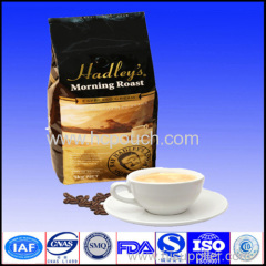 bottom gusset coffee package with valve