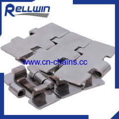 SS881TAB slat top Side flexing standard radius chain
