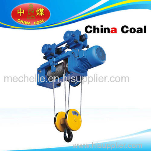Hanging wire rope electric hoist