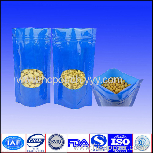 stand up packaging pouch with zipper