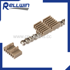 Conveyor chains Plastic slat top raised rib chains 845 series