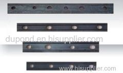Railway clamp plate for coal mining