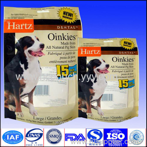 stand up pet food packaging bags