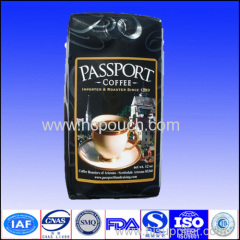 gusset coffee package with valve