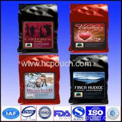 coffees package valve zipper