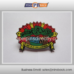 Metal soft enamel pin badge