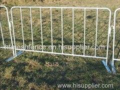 1100x2500MM barreras de Control de muchedumbre galvanizado sumergido caliente con pie plano