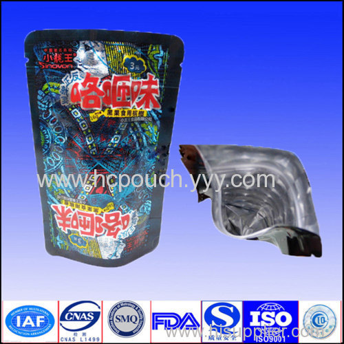 stand up aluminum zipper bags with lock