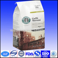 quad sealed coffee packaging bag