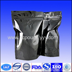 stand up aluminum foil tea bags with zipper