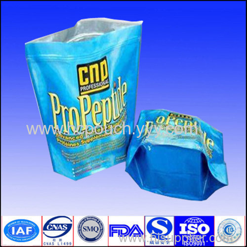 plastic stand up package bag