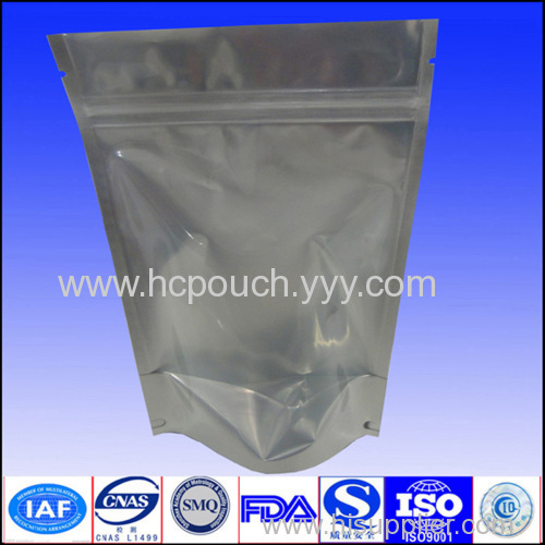 aluminum foil stand up bags with zipper