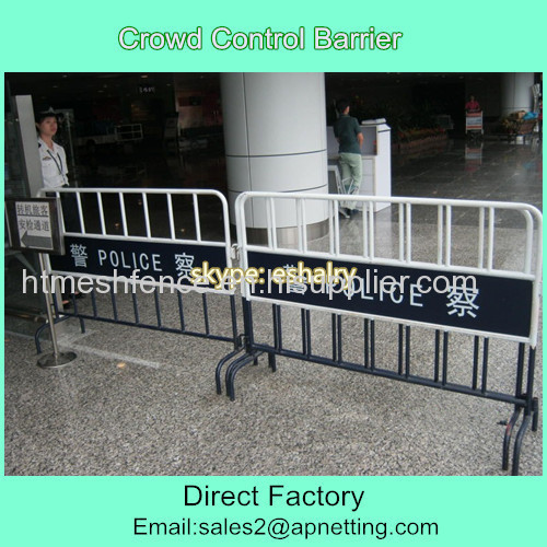Crowd control barrier for police