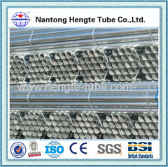BS1139 hot dip galvanized steel tube