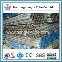 BS4568 hot dip galvanized steel tube