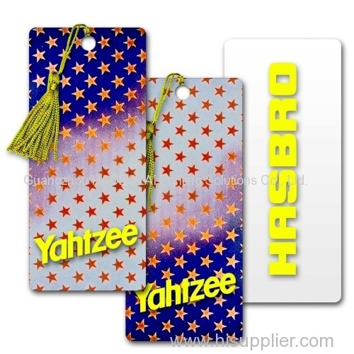 full color offset print PVC bookmark