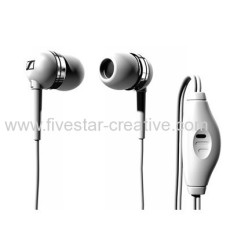 Sennheiser MM50iP Wit Ear Canal in-ear koptelefoon met microfoon voor Apple iPhone