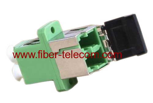 LC Shuttered Duplex Optical Fiber Adaptor