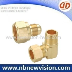 Brass Coupling Fittings - Male Tee & Female Elbow