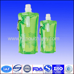 stand up water bag with spout