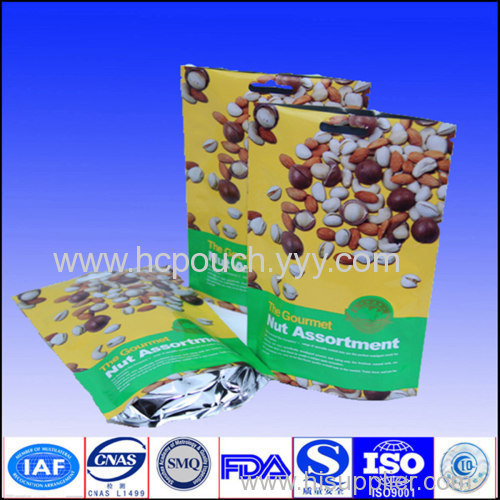stand up with zipper food bag