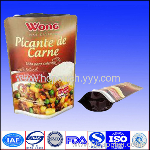 stand up aluminium foil bag for food