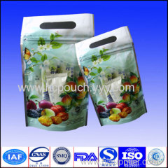stand up with zipper food bags