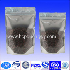 plastic stand up zipper tea bag