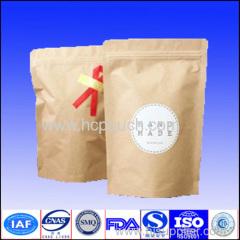 kraft paper coffee pouches