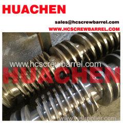 conical twin bimetallic screws and bimetallic barrels for extruder