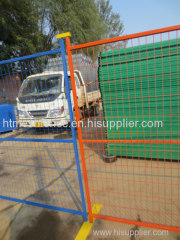6feet by 10feet Temporary Fencing Canada Temporary Fence Orange Colour Temporary Fence