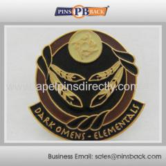 Die struck soft enamel pin badge
