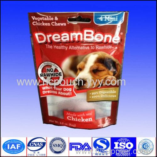 dog food bag stand up pet food bag