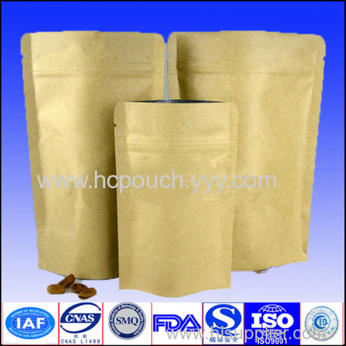 foil lined stand up kraft paper bags for food
