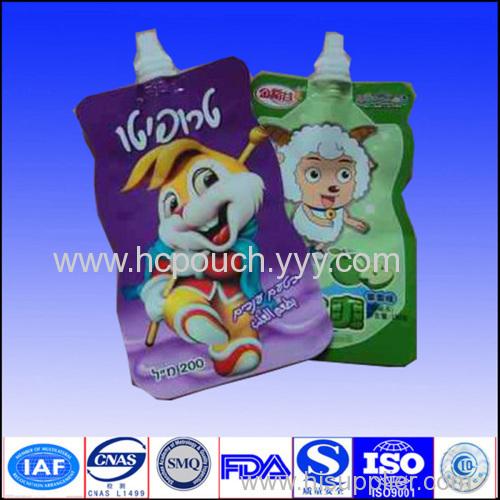 liquid stand up spout bag