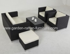 Hotel garden furniture rattan sofa sets
