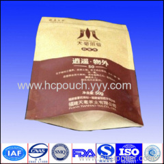 kraft stand up bag for food packaging
