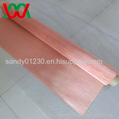 100mesh Copper 0.11mm Wire Dia Plain Woven Wire Mesh Screen