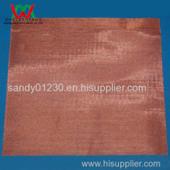 200 Mesh Copper 0.05mm Wire Dia Plain Woven Wire Msh Screen