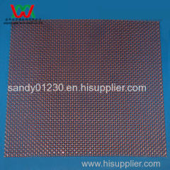 22 Mesh Copper 0.38mm Wire Dia Plain Woven Wire Mesh Screen