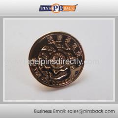 Metal Die struck pin badge