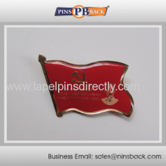 Soft enamel epoxy dome lapel pin