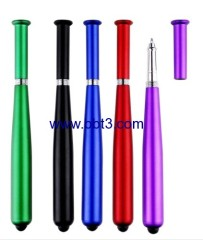 Promotional baseball bat shape stylus ballpoint pen