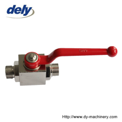 YJZQ high pressure ball valve male thread