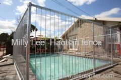 security metal temporary swimming pool modular panels high quality tubular swimming pool portable panel fencing