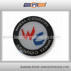 Metal Soft enamel epoxy dome lapel pin