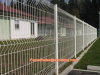 1430*2200mm welded wire mesh fence 50*200mm aperture and peach-shape post