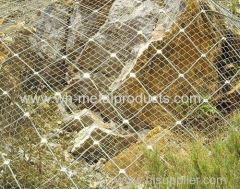 hot dipped galvanized steel rope slope protection net