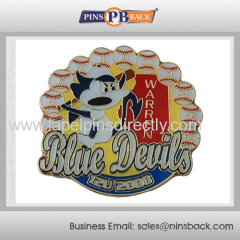 Metal baseball trading lapel pin/custom soft enamel pin badge