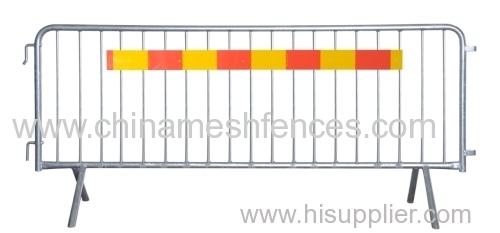 Steel Barricade Heavy Duty Hi-Viz Reflective Stripes